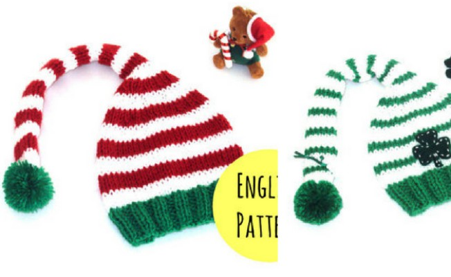 Knitted Elf Hat Pattern Feat