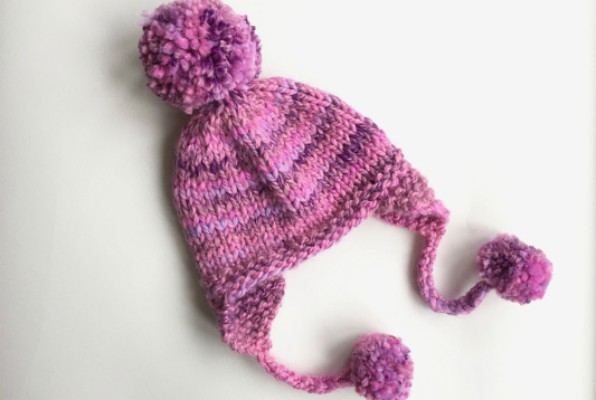 Womens Beanie With Earflaps Knitting Pattern Feature