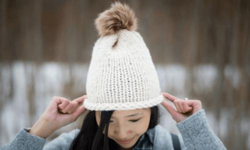 Knit Hat Pattern, Women's Stockinette Stitch Hat