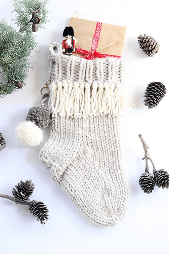 Christmas Stocking Knitting Pattern by Handy Little Me
