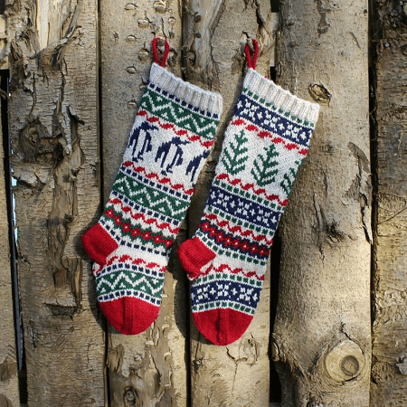 Christmas Stockings Knitting Pattern by Santa's Sock Central
