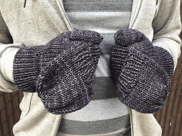 Convertible Knit Mitten Pattern by The Little Foxes