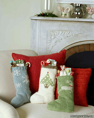 Knit Christmas Stocking Pattern by Martha Stewart