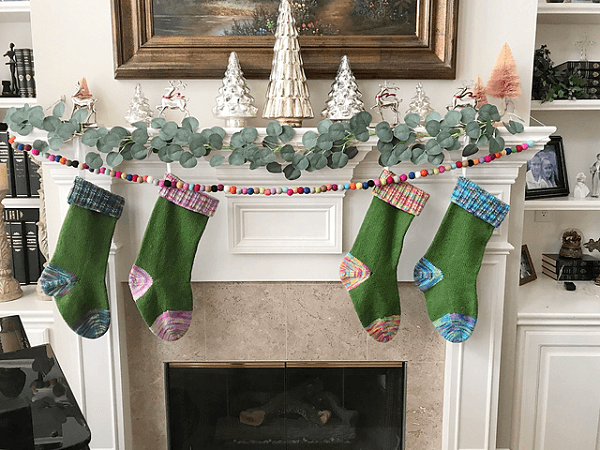 Late Night Christmas Stocking Knitting Pattern by I Knit 2 Purl 2