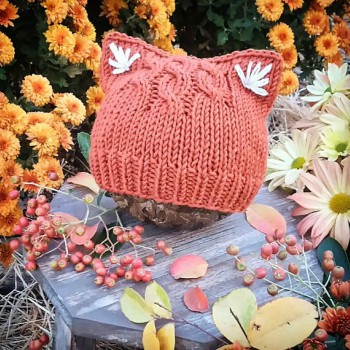 Adorable Kitty Ear Hat Knitting Pattern