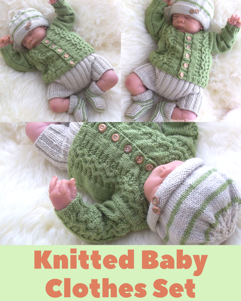 Adorable Newborn Baby Cardigan Knitting Pattern
