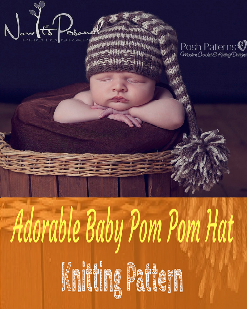 New Baby Pom Pom Hat Knitting Pattern