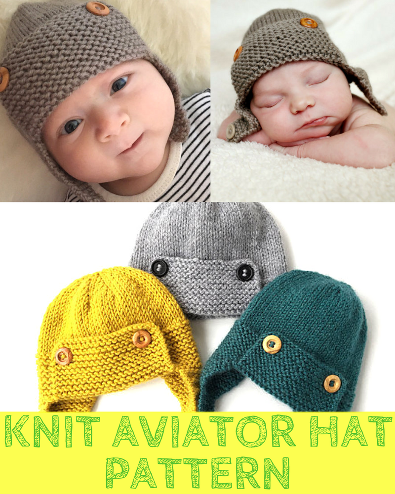 Boys Knit Aviator Hat Pattern