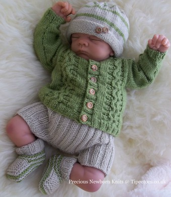 Cardigan Knitting Pattern For Newborn Baby