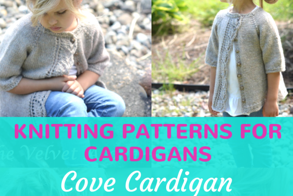 Cove Cardigan Knitting Pattern For Girls Feature Image