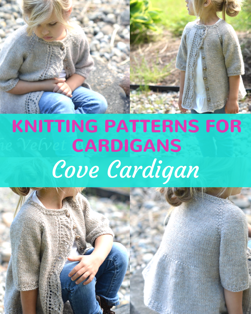 Cove Cardigan Knitting Pattern For Girls