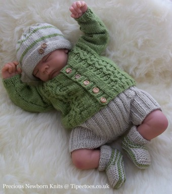 Cute Newborn Baby Cardigan Knitting Pattern