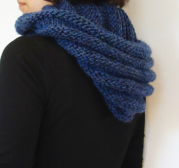 Eternity Hooded Ribbed Scarf Pattern