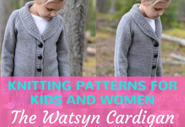 Fashionable Easy Knit Ladies Cardigan Patterns Feature Image