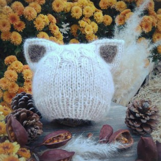 Hat Knitting Pattern Kitty Ears
