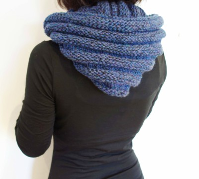 Hooded Ribbed Infinity Scarf Pattern For Beginners