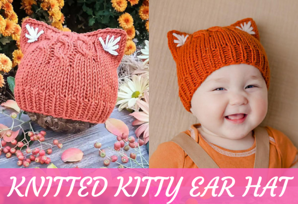 Kitty Ear Hat Knitting Pattern Feature