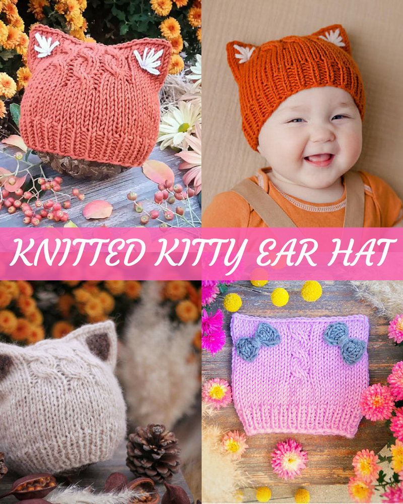 Kitty Ear Hat Knitting Pattern