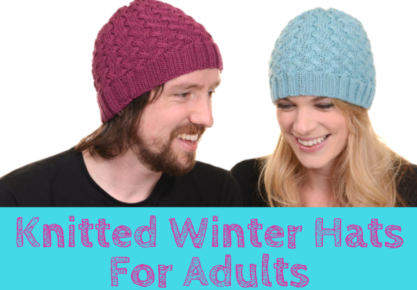 Knitted Winter Hats For Adults Pattern Feat