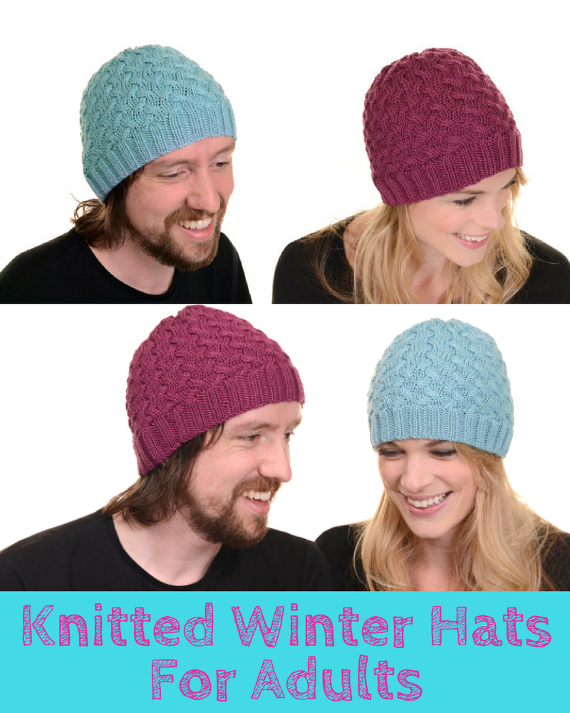 Knitted Winter Hats For Adults Pattern