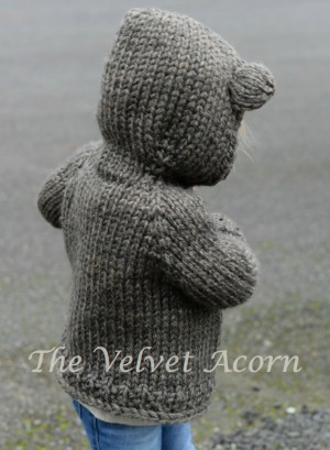 Knitting Pattern Bear Hood Cardigan