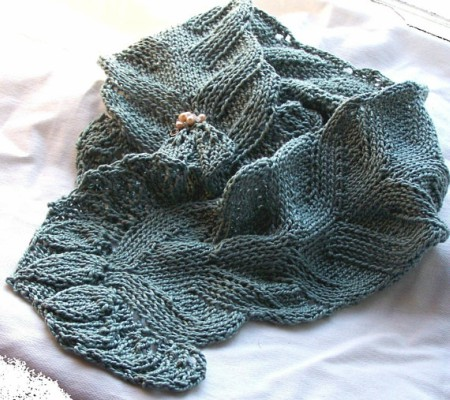 Knitting Pattern Easy Summer Scarf