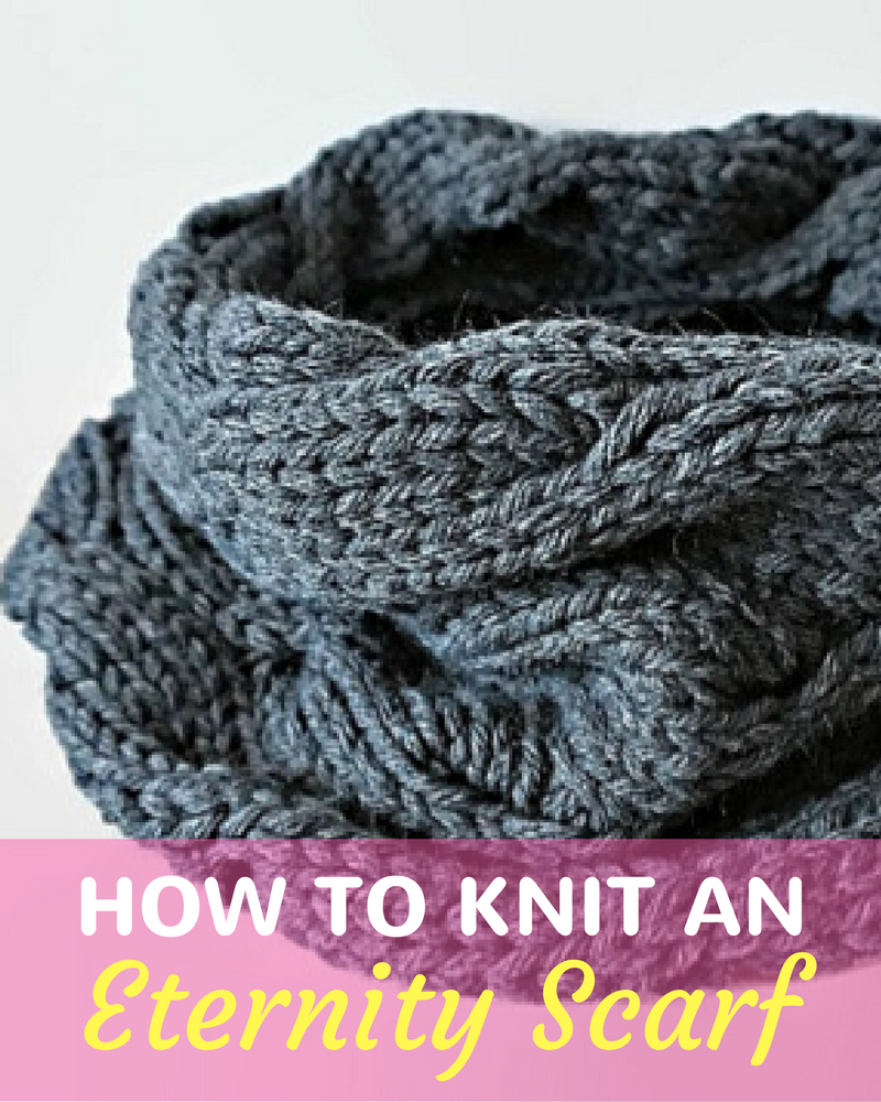 Learn How To Knit An Eternity Scarf