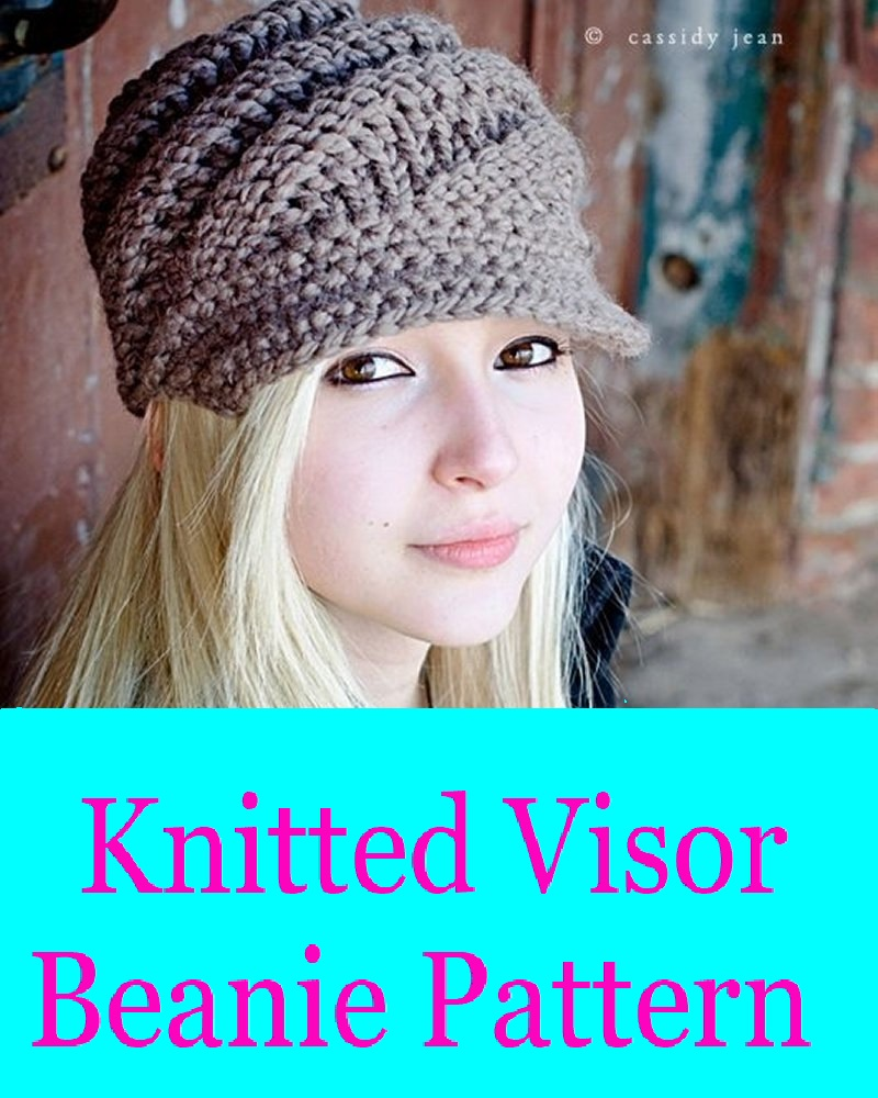 New Visor Beanie Knit Pattern