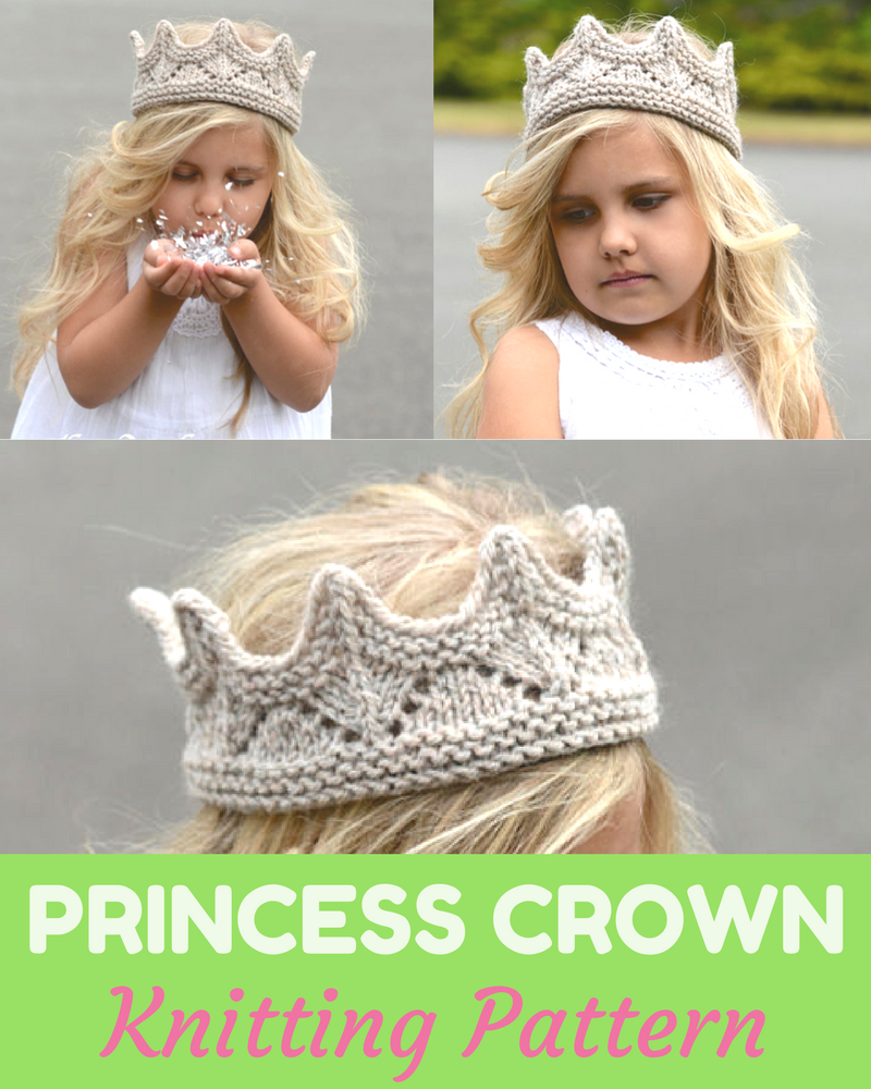 Princess Crown Knitting Pattern
