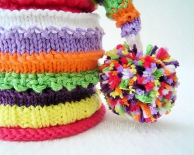 Rainbow Hat Knit Stocking Pattern