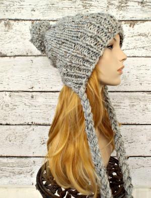 Slouchy Earflap Hat Knitting Pattern