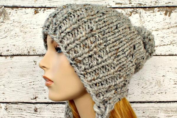 Slouchy Earflap Hat Pattern Feat