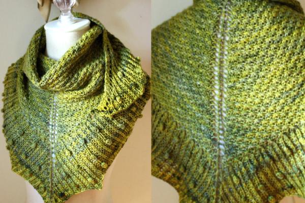 Stunning Shawlette Knitting Pattern