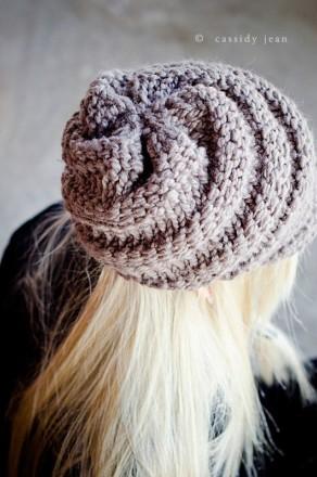Swirl Visor Beanie Ladies Knit Pattern
