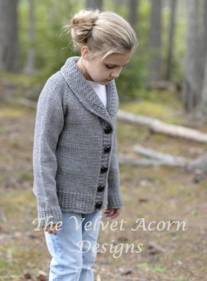 Warm Knitted Cardigan Pattern Kids To Adult Sizes