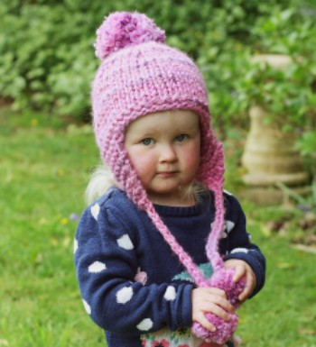Womens Beanie With Earflaps And Pom Pom