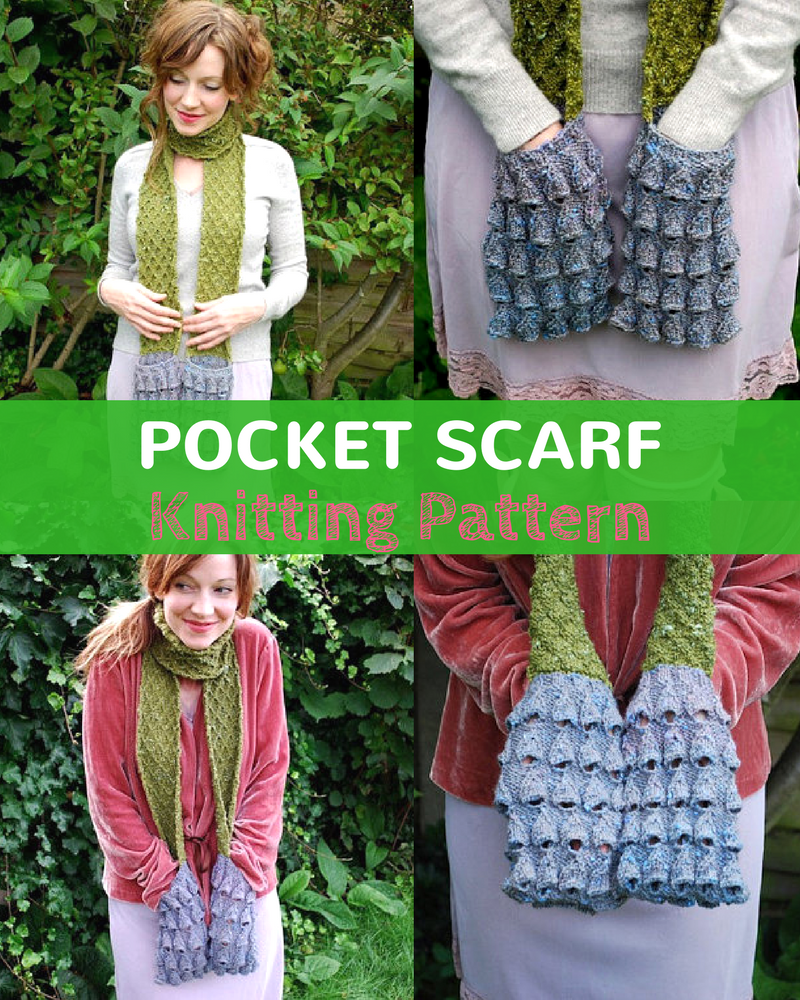 Women's Pocket Scarf Pattern YES A Scarf With Pockets