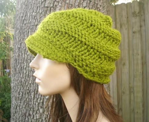 Visor Beanie Knitting Pattern