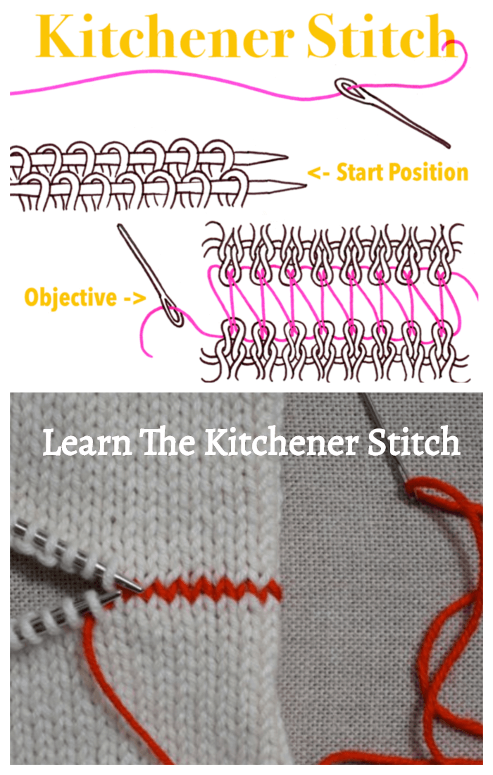 Free Knitting Kitchener Stitch Tutorial