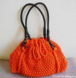 Bobble Stitch Hand bag Pattern