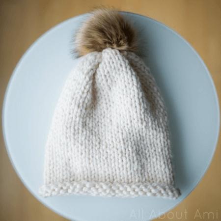 Knit Beanie Pattern With Stockinette Stitch