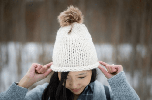 Knit Hat Pattern, Women's Stockinette Stitch Hat
