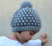 Knitted Bobble Stitch Hat