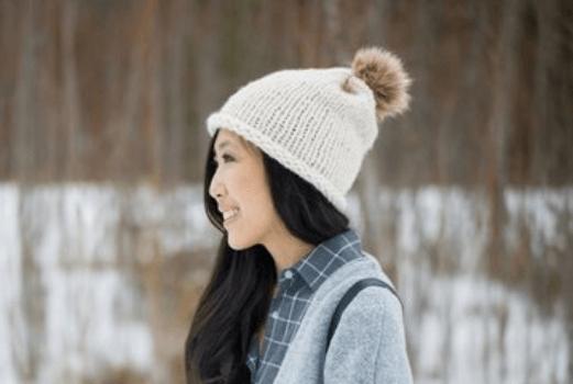 Stockinette Stitch Hat For Women Pattern