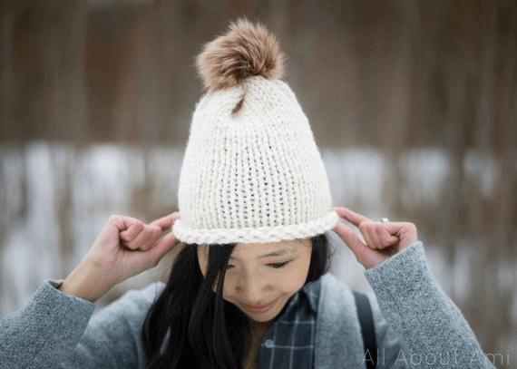 Stockinette Stitch Hat Pattern