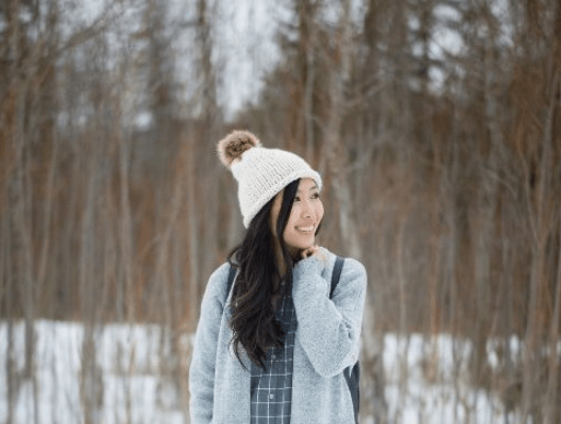 Women Beanie Pattern With Stockinette Stitch