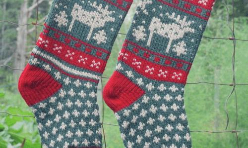 Christmas stockings knitting pattern