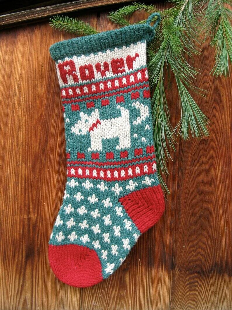 christmas stockings knitting pattern