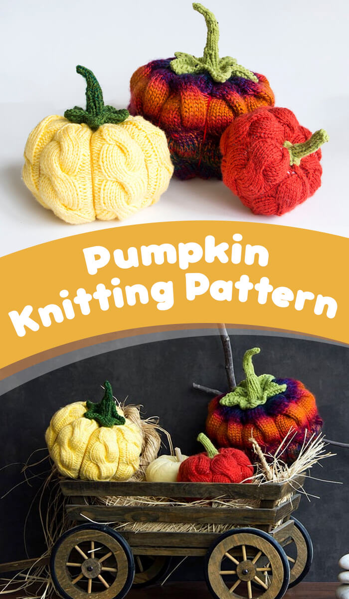 Halloween Pumpkin Knitting Pattern