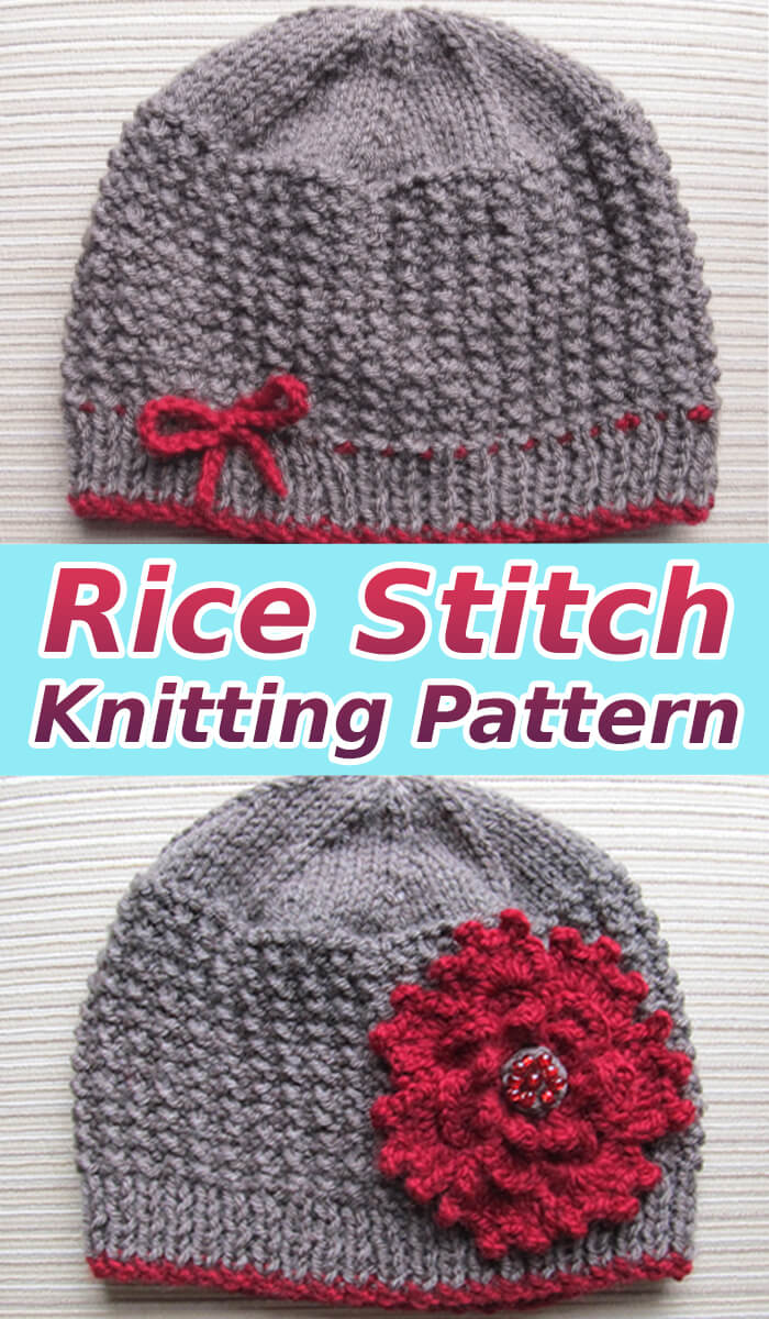 How to Rice Stitch Knitting Pattern